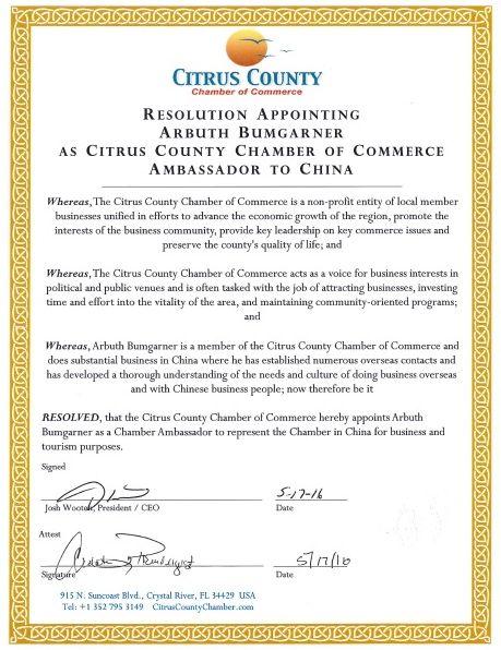 chamber resolution